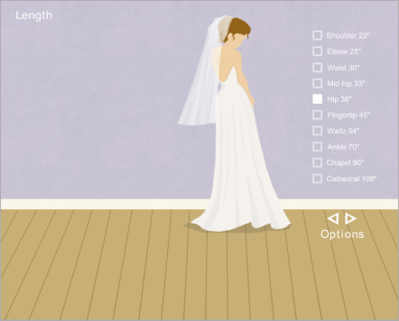 BlancaVeils Interactive-Build Your Own Wedding Veil