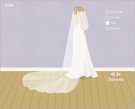 Interactive Wedding Veil Designer