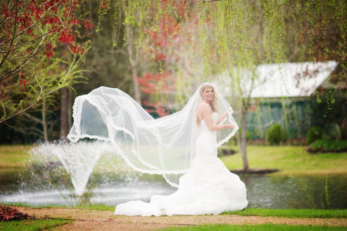 Gorgeous drop veil from BlancaVeils.com